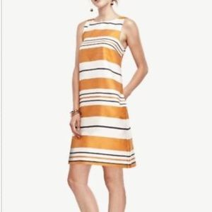 Ann Taylor striped shift dress
